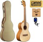 Kala KA FMTG Solid Spruce Top Flame Maple Tenor Ukulele w Tweed Case Bundle