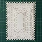Nested Stitched Scallop Rectangle Frame Metal Cutting Dies DIY Scrapbook Die Cut
