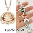 Angel Wings 4 Photo Picture Pendant Expanding Locket Necklace Memorial Jewelry