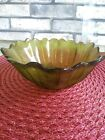Vintage Scalloped Flower Dish--Olive Green-Unknown Brand- UNIQUE-LOOK!!!@