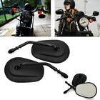 CHROME BLACK MOTORCYCLE PARTS REAR VIEW CUSTOM MIRRORS FOR HARLEY MOTORBIKES