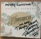 Autographed By Dewey Bunnell America : Holiday Harmony CD (2002)