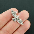 5 Eagle Charms Antique Silver Tone 2 Sided Bird in Flight SC040