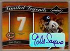 2004 LEAF LIMITED LEGENDS GALE SAYERS AUTO JERSEY 4 7!!