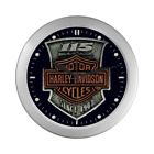 Harley 115th Collector Anniversary Pewte Silver Color Wall Clock