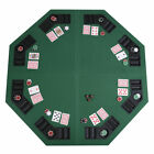 New 48 Green Octagon 8 Player Four Fold Folding Poker Table Top