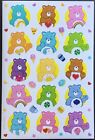 Sheet of Stickers American Greetings Care Bears Mint Condition