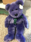 Ty Beanie Employee Bear Purple RARE RETIRED 14 INCHES MINT with Tags Brand New