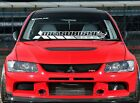 Windshield Decal Car Sticker Banner For Mitsubishi Evo Evolution Dohc Lancer Mr