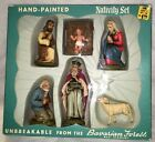 VINTAGE SSKRESGE HAND PAINTED GERMAN NATIVITY SET