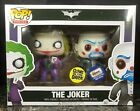 FUNKO POP THE JOKER 2-PACK GEMINI EXCLUSIVE DARK KNIGHT BANK ROBBER RARE BATMAN