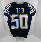 2013 San Diego Chargers Manti Te'o #50 Game Issued Navy Jersey