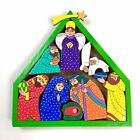 El Salvador Folk Art Nativity Christmas Wood Toy Figurines Christianity Jesus