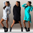 Women Casual Dress Sports Long Sleeve Hoodie Hooded Jumper Pockets Sweater Tops