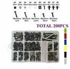 200x Fairing Body Bolts Kit Screws Clip For Honda NSR250R MC18 NSR250R MC28