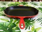 NEVER USED Red Cherry Cerise LE CREUSET Oval Grill Skillet 32 13 x 9