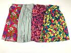 LuLaRoe Gray Pink Red Yellow Floral Tie Dye Pleated Madison Skirt M L Lot of 4