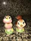 Vintage Anthropomorphic Bird Salt Pepper Shakers Norcrest Lefton Japan