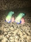 VINTAGE LEFT  RIGHT ANTHROPOMORPHIC ZUCCHINI CUCUMBER SALT PEPPER SHAKERS