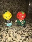 Vintage Anthropomorphic Tomato and Orange Men With Hat Salt Pepper Shakers Japan