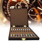 Set of 10PCS Watch Repair Screwdrivers w/ Weight Sleeves in Wooden Box steel USA