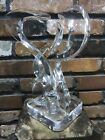 LUCY PHELPS ORIGINAL ABSTRACT CLEAR LUCITE ART SCULPTURE SIGNED