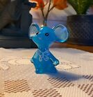 Fenton Sky Blue HP Mouse Painted by Martha Reynolds