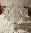 Vintage Set of 4 Ribbed Glass Double Egg Cups Could Be Hazel Atlas Perfect~Nice~