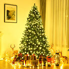 75Ft Pre Lit PVC Artificial Christmas Tree Hinged w 400 LED Lights