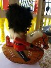 Vintage Handcrafted Christmas Wood Nutcracker Soldier Riding Rocking Horse 10