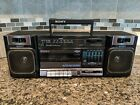 Vintage 80's Sony CFS-1010 AM/FM Stereo Cassette Player/Recorder Boombox Tested