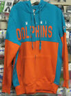 NFL MIAMI DOLPHINS G III HANDS HIGH FULL ZIP HOODIE SWEATSHIRT M MED NEW