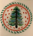 KOSTA BODA Christmas Tree Serving Platter ULRICA HYDMAN VALLIEN Round 13 Signed