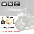 Motorcycle 2-Way Security System Anti-theft Remote Control Engine Waterproof