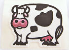 Vintage 80s Personal Expressions Fuzzy Vinyl Foil Cute Cow Sticker Mod