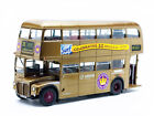 ROUTEMASTER RM 23 DOUBLE DECKER BUS GOLD 1 24 DIECAST MODEL BY SUNSTAR 2942