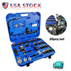 Adapters Radiator Pressure Tester Kit Coolant Vacuum Type Cooling System 28 Pcs