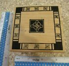 FRAME OF FLOWERS MW RUBBER STAMP MAGENTA