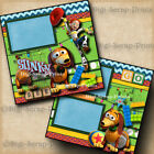 DISNEY SLINKY DOG DASH 2 premade scrapbook pages paper toy story Digiscrap A0254