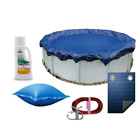 24 Winter Above Ground Round Pool Cover + Magic Phosfree Pillow 8 Year Warranty