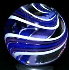 TOSELAND GLASS MARBLE 1045 4 FIN TWIST ROYAL LAVENDER HUGE SHOOTER WORLDWIDE