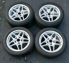 PORSCHE OEM 17 INCH WHEELS STAGGERED SET Cayman Boxster 9872 and others