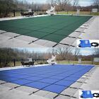 GLI ValueX Solid Green or Blue Swimming Pool Winter Safety Cover w Cover Pump
