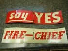Original Vintage Texaco FIRE CHIEF Wind Spinner Gas Pump Signs SAY YES