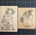 Imaginatios Funky Girl Lot Of 10 Rubber Stamps