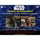 2019 TOPPS STAR WARS AUTHENTICS SERIES 2 AUTOGRAPHED PHOTO & CARD 12 BOX CASE