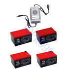 4x 12V 14AH 6 DMZ 12 SLA Battery + Charger for Moped Scooter Electric Go Kart