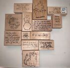 Annette Watkins Printworks Bible Verses Holiday Cornucopia Rubber Stamps CHOOSE