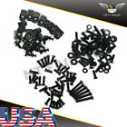 NT Universal Black Fairing Bolt Kit Screws Fit for SUZUKI GSXR 600 750 1000 1300