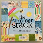 DCWV Summer Stack Scrapbooking 96 Pages 12x12 Printed Paper Super Pack